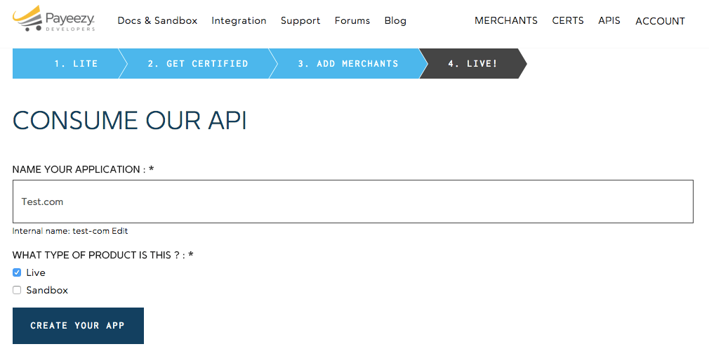 First Data Payeezy Name API