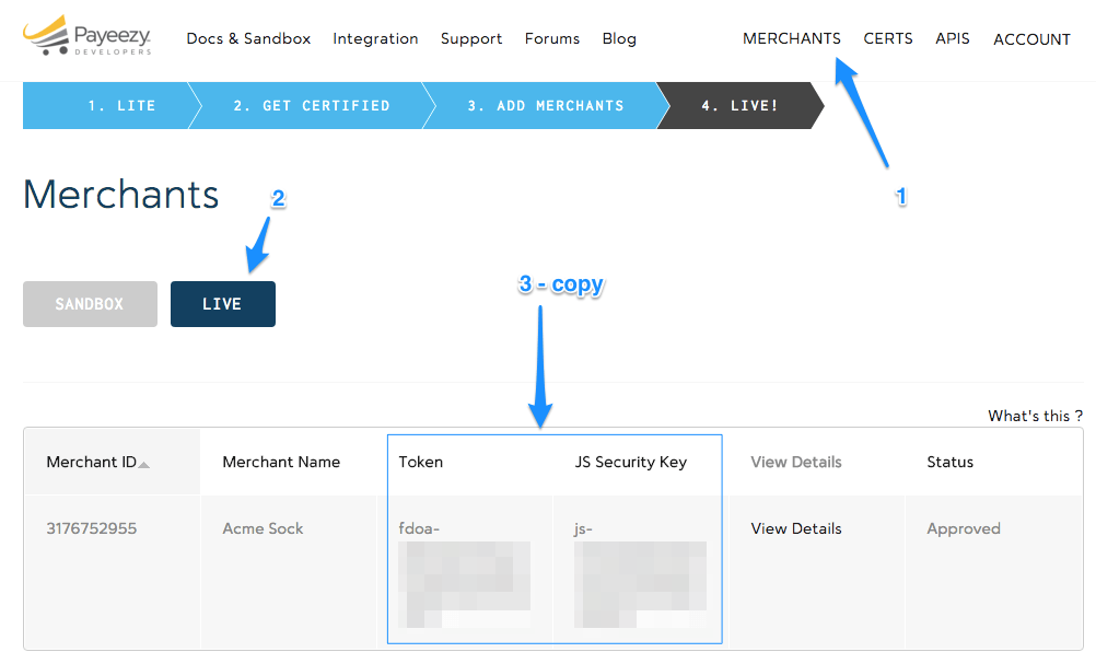 First Data Payeezy Get API Credentials